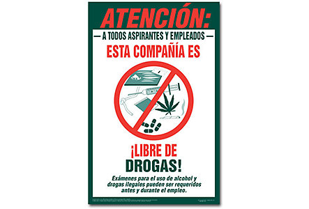 Drug Free Workplace Poster-Spanish