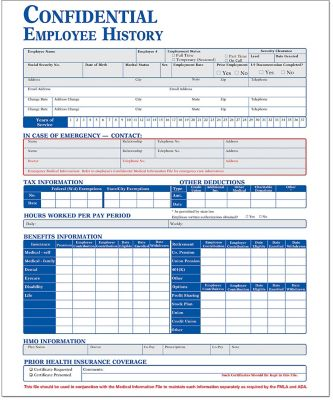 Personnel review forms