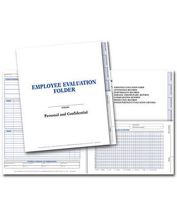 Employee Evaluation Folder-Plain