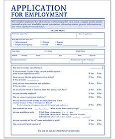 Job application forms and hiring application forms for Spanish job application template