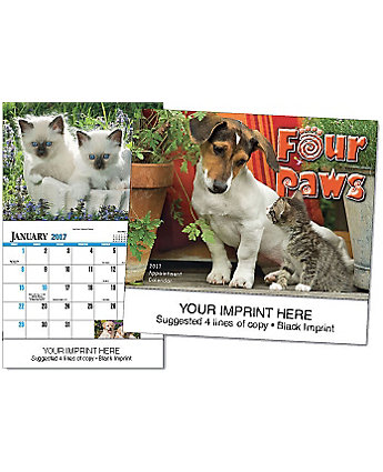 Four Paws-Spiral Calendar