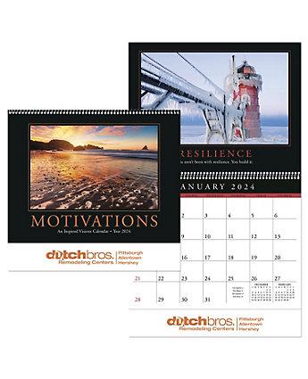 Motivations Wall Calendar Spiral
