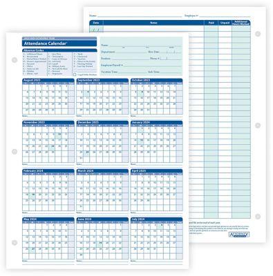 Free Employee Attendance Cards For 2016 | Calendar Template 2016