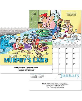 Murphy's Law Wall Calendar Spiral