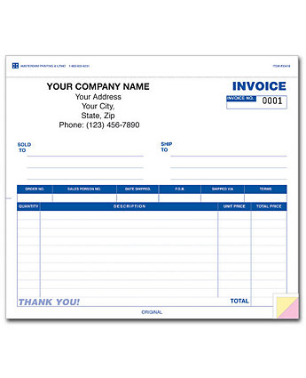 Invoice 2 Part 8.5 X 7