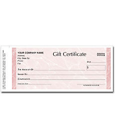 MARBLE GIFT CERTIFICATE