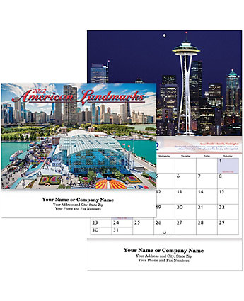 Historic Landmarks Calendar Stapled