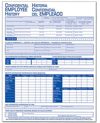 Employee History Folder Bilingual