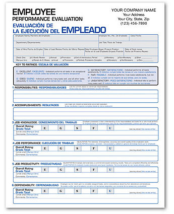 Employee Evaluation Forms Bilingual