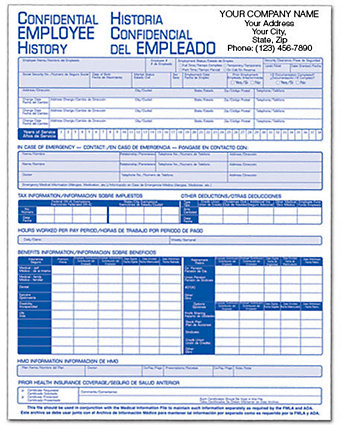 Employee History Folder Bilingual