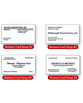 Business Card Laid 1 Or 2 Color
