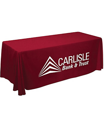 6' Table Throw- 1 Color Imprint