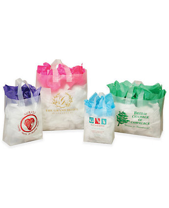 Frosted Shopping Bag W/Loop Handle