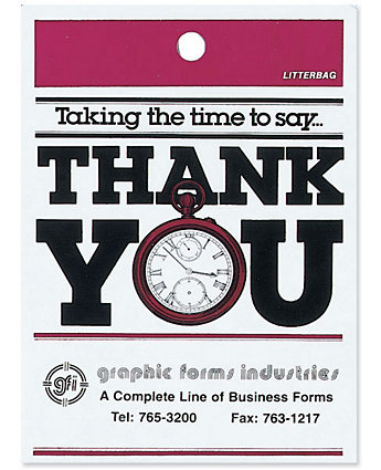 """Thank You"" Litterbags"