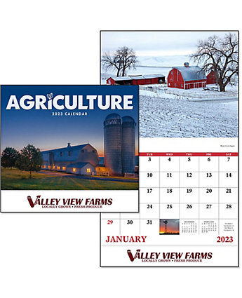 Agriculture Wall Calendar-Stitched
