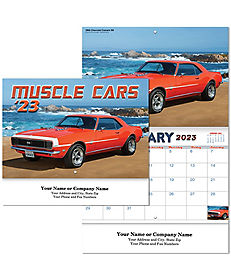 MUSCLE CAR WALL CALENDAR STAPLED