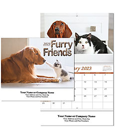 CATS AND DOGS WALL CALENDAR STAPLED