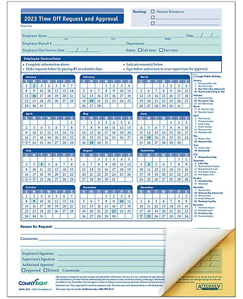 Yearly vacation request forms amsterdam printing for Request off calendar template