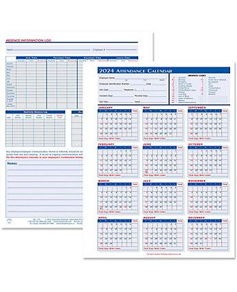 2014 Attendance Calendar Form 25/Pk