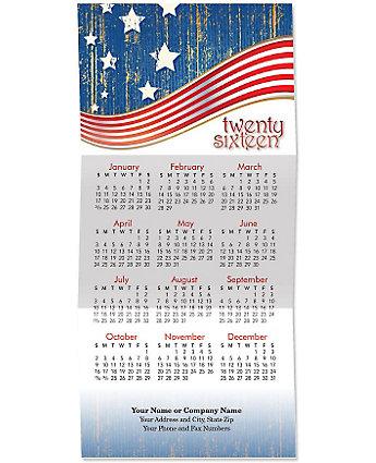 Patriotic Tri-Fold Calendar