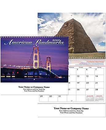 Historic Landmark Wall Calendar Spr