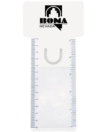 Bus. Card Magnifier/Ruler/Bookmark