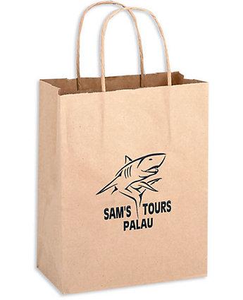 8X4.5X10.5 Brown Kraft Shopper Bag
