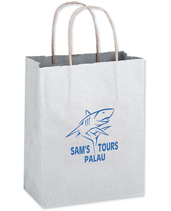 8X4.5X10.5 White Shopper Bag