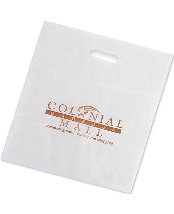 15X18x4 Clear Frosted Die Cut Bag