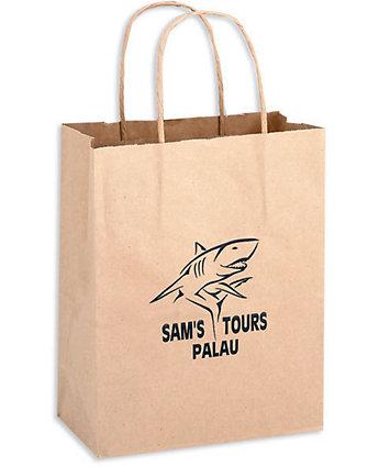 10X5x13 Brown Kraft Shopper Bag