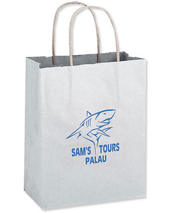 10X5x13 White Shopper Bag