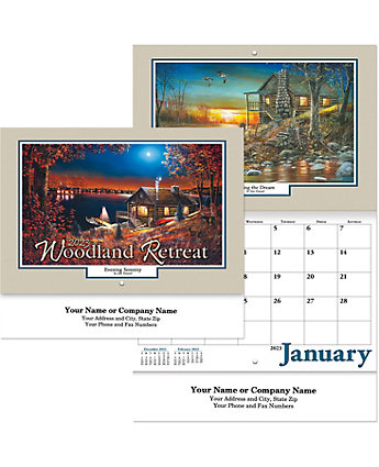 Woodland Retreat Wall Calendar Stpl