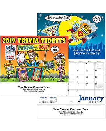 Trivia Tidbits Wall Calendar Stpl