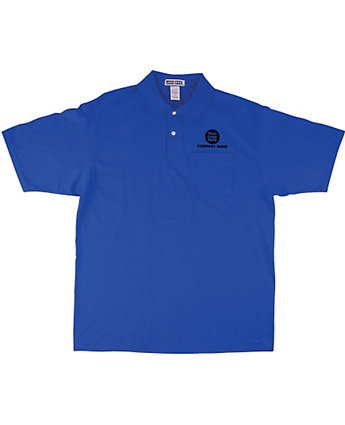 Polo W/Pocket 50/50 Embroidered