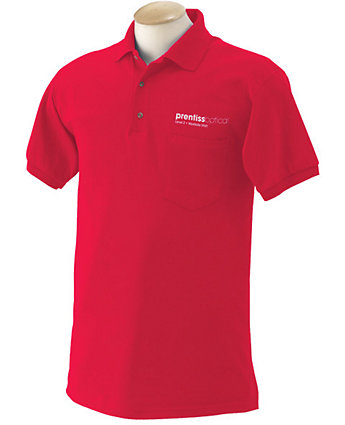 Polo Shirt W/Pocket 50/50 Screened