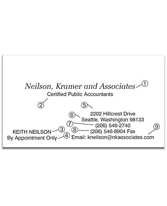 Post-it® Business Card Format 1