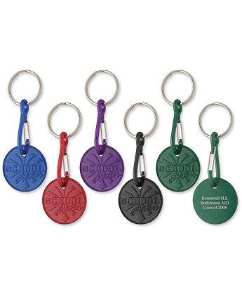 School Spirit Medallion Keychain