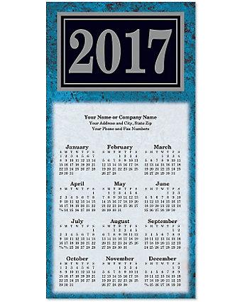 Marble Tri-Fold Calendar