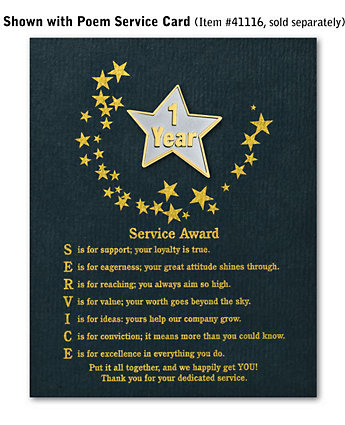 Star Service Award Pin - 1 Yr