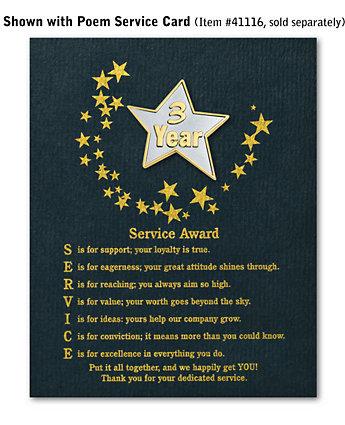 Star Service Award Pin - 3 Yr