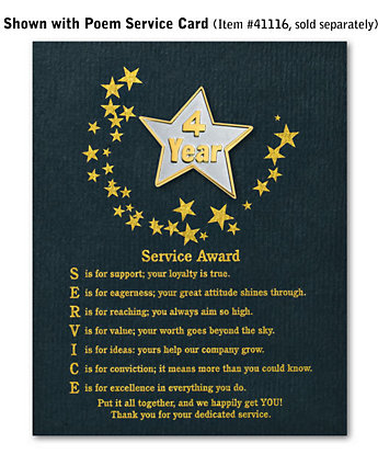 Star Service Award Pin - 4 Yr