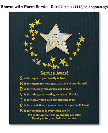 Star Service Award Pin - 5 Yr