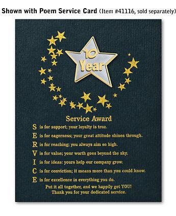 Star Service Award Pin - 10 Yr