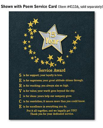 Star Service Award Pin - 15 Yr