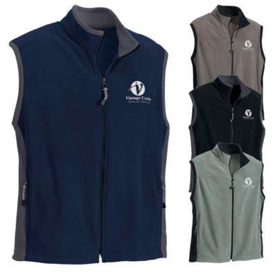 north end micro fleece mens vests