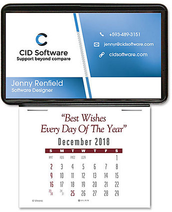 Business Card Holder Stick Calendar