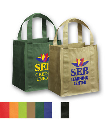 12X8x13 Non Woven Grocery Tote