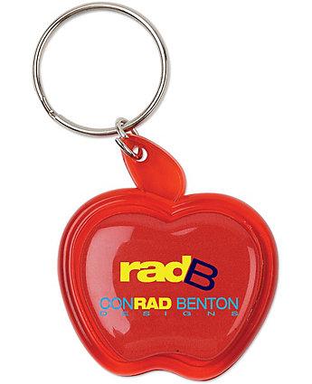 Apple Domed Key Ring