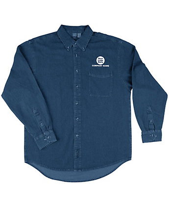 Long Sleeve Shirt Denim Embroidered