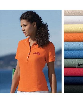 Polo Pique Nike Embroidered Womens